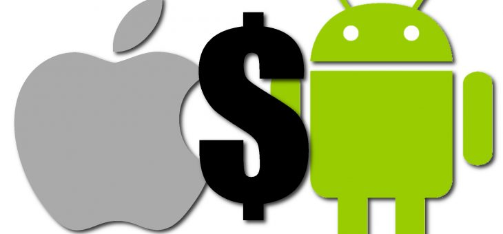 Android could overtake Apple in overall app sales this year.