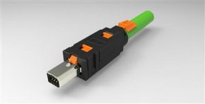 Industrial connector supports 10Gbit/s Ethernet