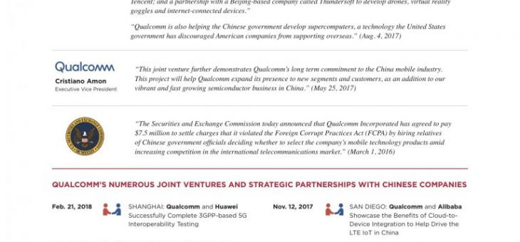 Qualcomm and China –  according  to  Broadcom