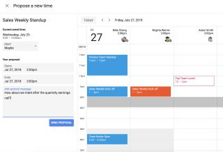 Google Calendar now gives guests the power to suggest a new meeting time